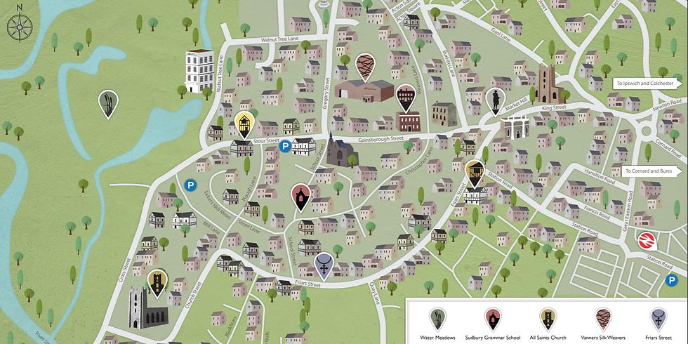 Gainsborough's Sudbury: self-guided town trail