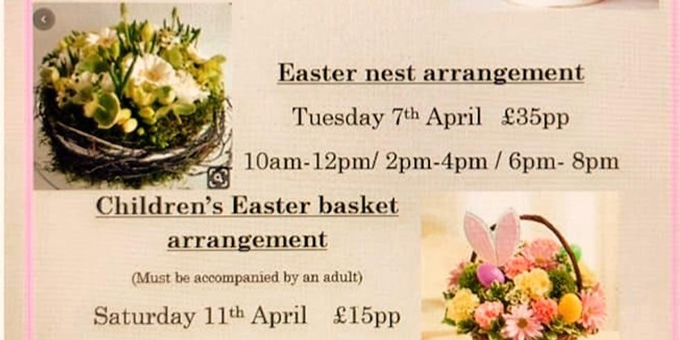 Children's Easter Basket Arrangement Workshop