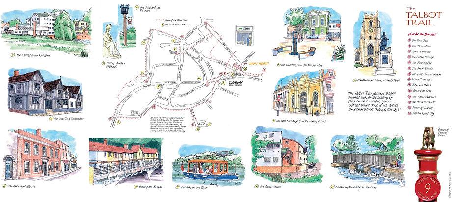 Talbot Trail Map Sudbury Suffolk