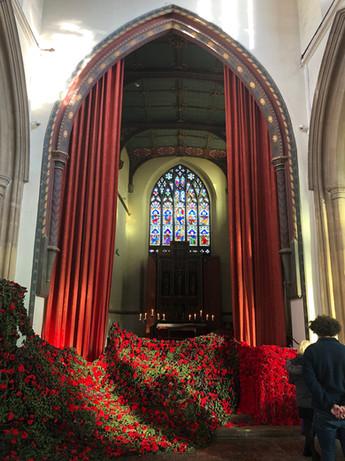 St. Peter's, Community Remembrance Day Poppy net.