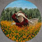Cueillettes de fleurs au népal