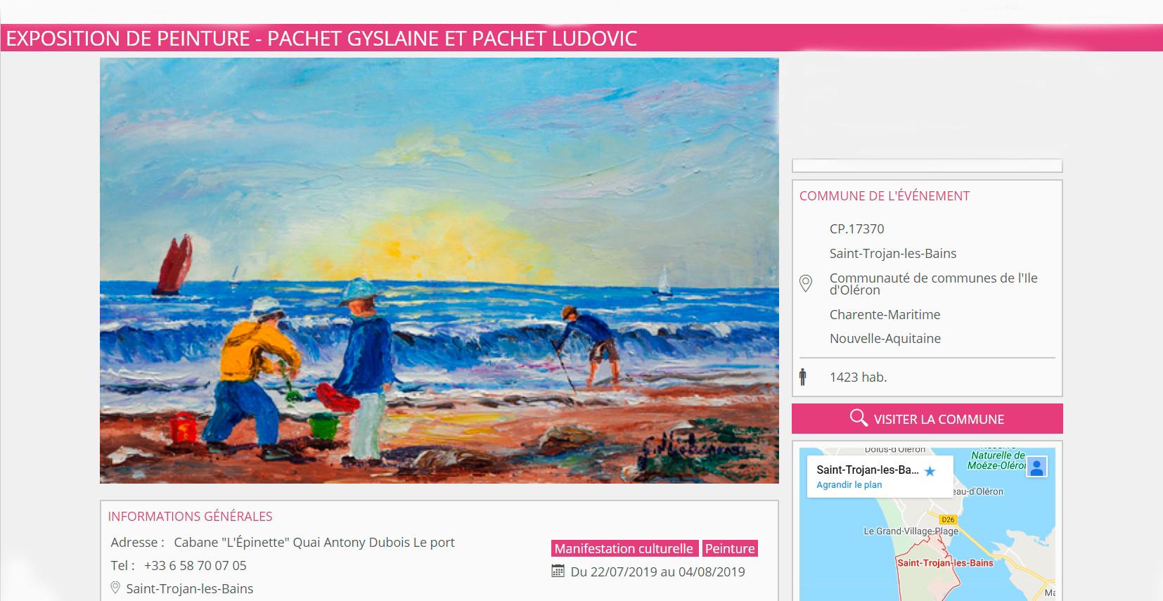 Exposition de peinture Gyslaine et Ludovic Pachet