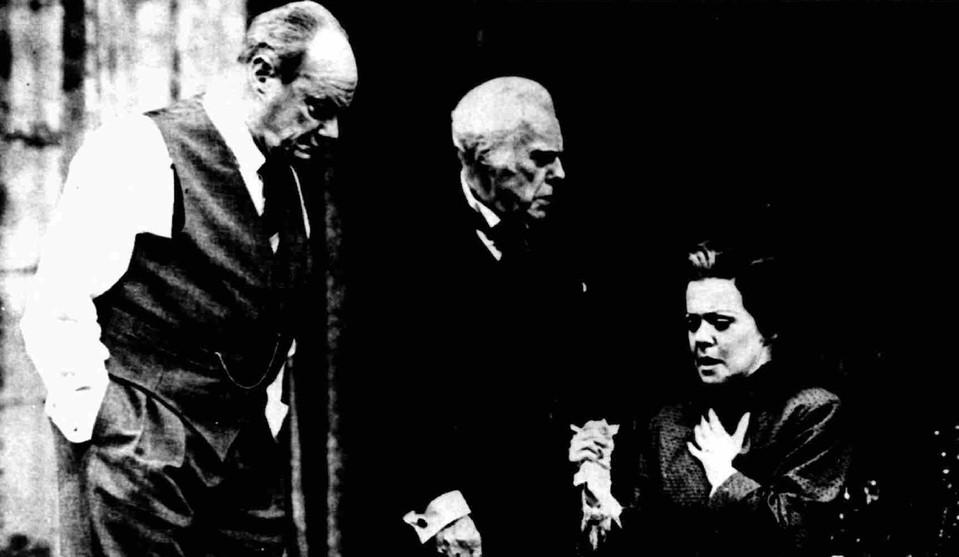 Glyn Edwards, Marius Goring & Liz Edmiston in Towards Zero 1989