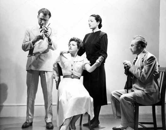Olaf Pooley, Margaret Lockwood, Jill Balcon & Marius Goring in Highly Dangerous 1950