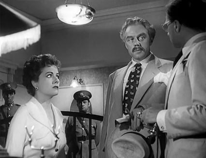 Margaret Lockwood, Marius Goring & Olaf Pooley in Highly Dangerous 1950