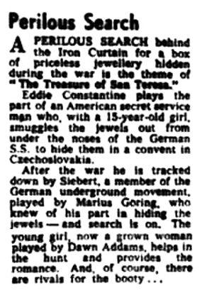The Treasure of San Teresa review in the Hampshire Telegraph 27 November 1959