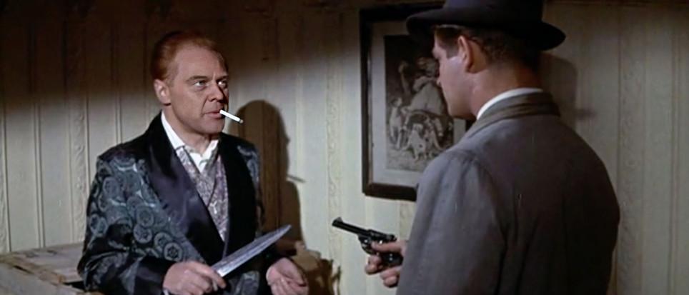 Marius Goring as Thorens & Stephen Boyd as Peter Jongman in The Inspector 1962