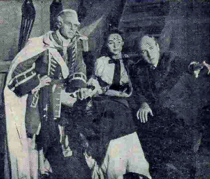 Marius Goring as Robert Clive, Jeannette Sterke as Margaret Maskelyne with director Rudolph Cartier