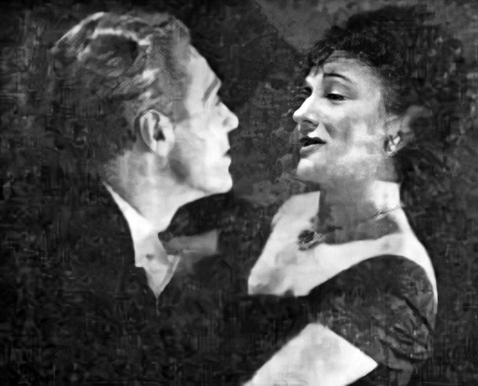 Marius Goring and Lucie Mannheim in Jealousy/Monsieur Lamberthier 1949