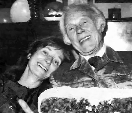 Prudence and Marius on his 75th birthday