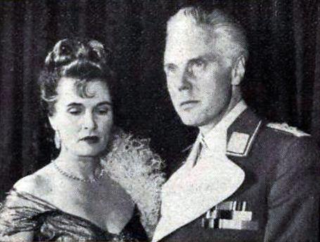 Margaretta Scott & Marius Goring in The Devil's General 1955