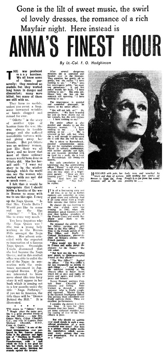 Odette article in The Essex Newsman 13 June 1950