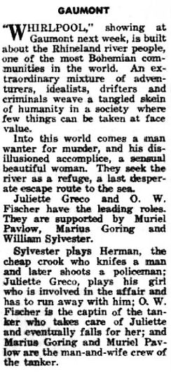 Whirlpool review in the Dalkeith Advertiser 30 April 1959