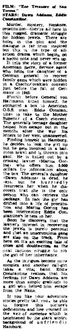 The Treasure of San Teresa review in the Kensington Post 11 December 1959