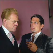 Marius Goring as Lewis Eliot & Lyndon Brook as Martin Eliot in The New Men broadcast 8 November 1966