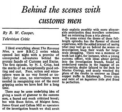 The Revenue Men review in The Times 29 March 1967