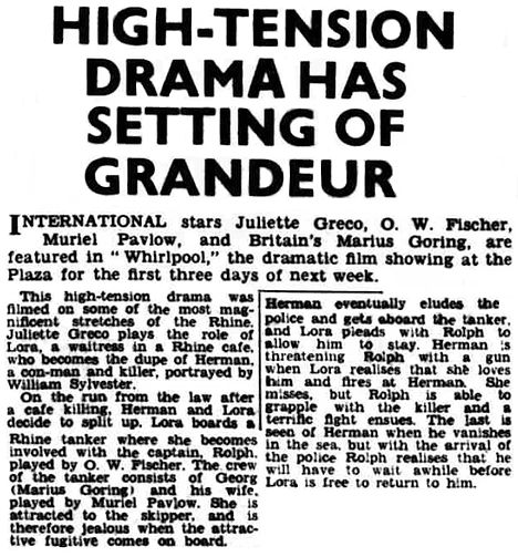 Whirlpool review in the Rugeley Times 26 September 1959