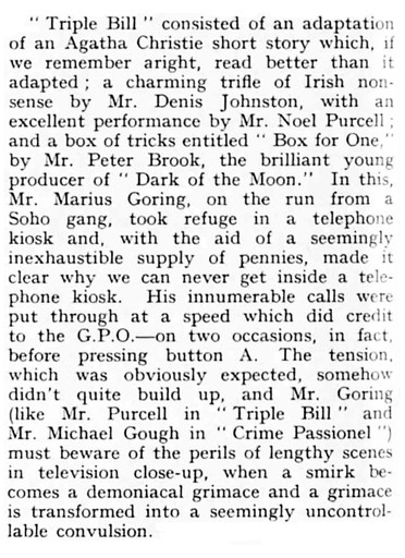 Box for One review in The Sketch 22 June 1949