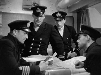 Conrad Veidt, Torin Thatcher, Cyril Chamberlain & Marius Goring in The Spy in Black