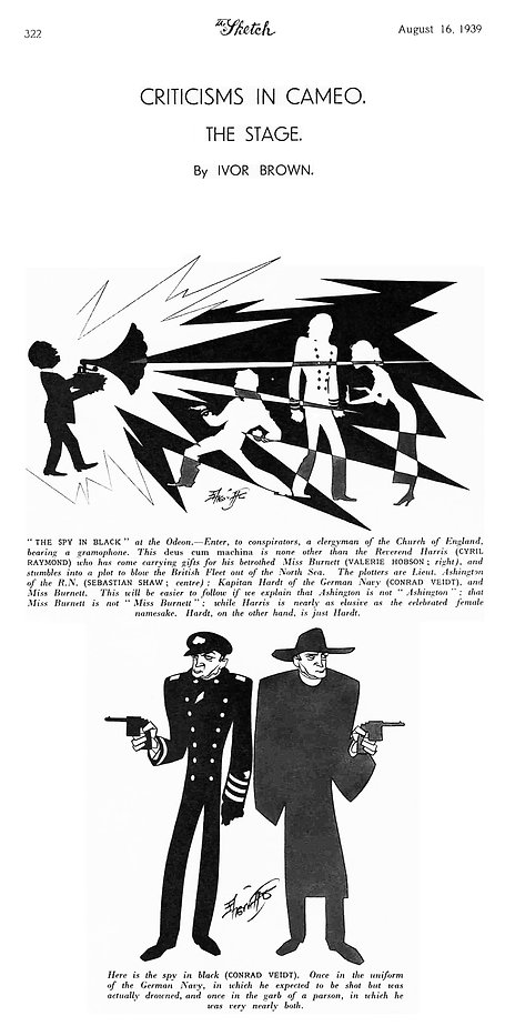 The Spy in Black article & illustrations in The Sketch 16 August 1939