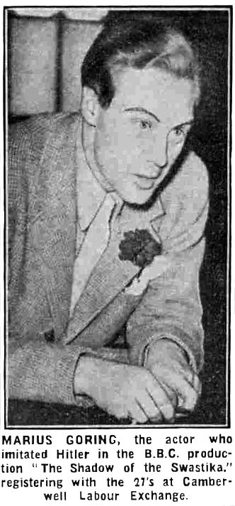 Marius Goring registering for conscription 27 May 1940