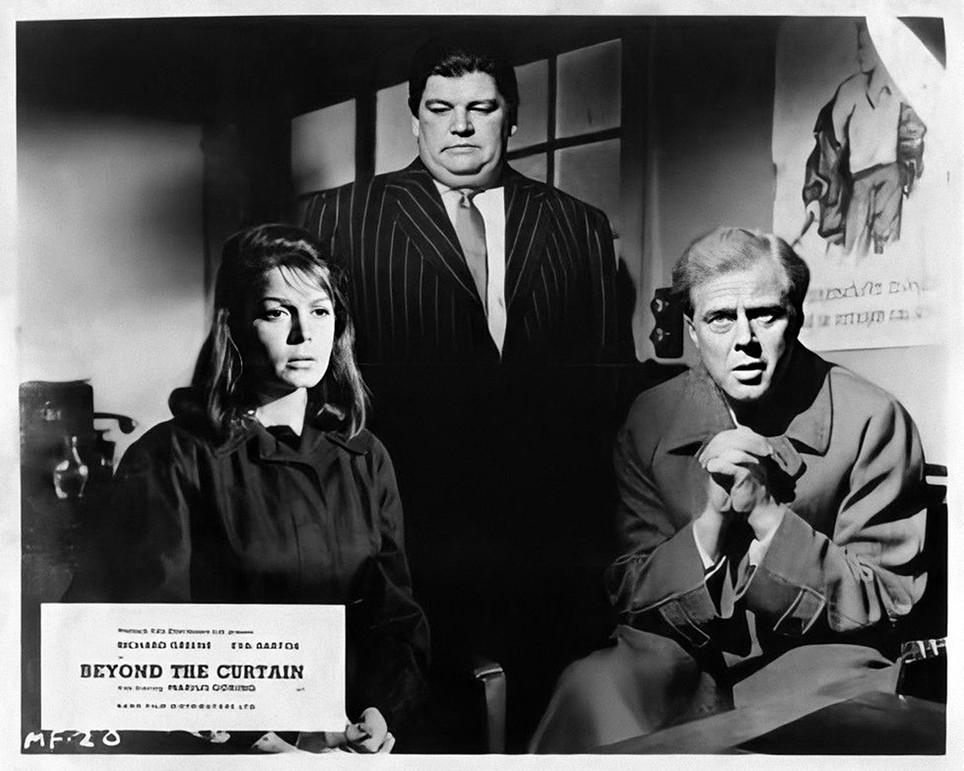 Eva Bartok, Denis Shaw & Marius Goring in Beyond the Curtain