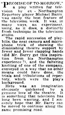 Promise of Tomorrow review in the Northampton Chronicle and Echo 21 April 1950