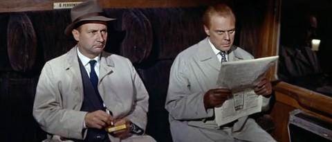 Donald Pleasence and Marius Goring in The Inspector 1962