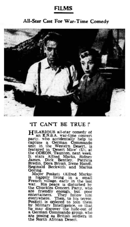Desert Mice review in the Taunton Courier, and Western Advertiser 27 February 1960