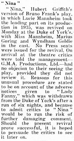Nina article in The Stage 13 April 1939