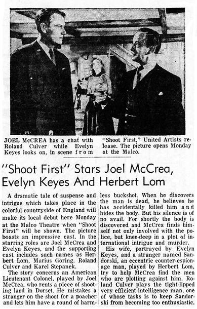 Rough Shoot review in The Owensboro Messenger (Owensboro, Kentucky) 27 December 1953