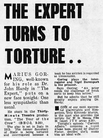 The Year of the Crow article in the Daily Mirror 2 October 1970