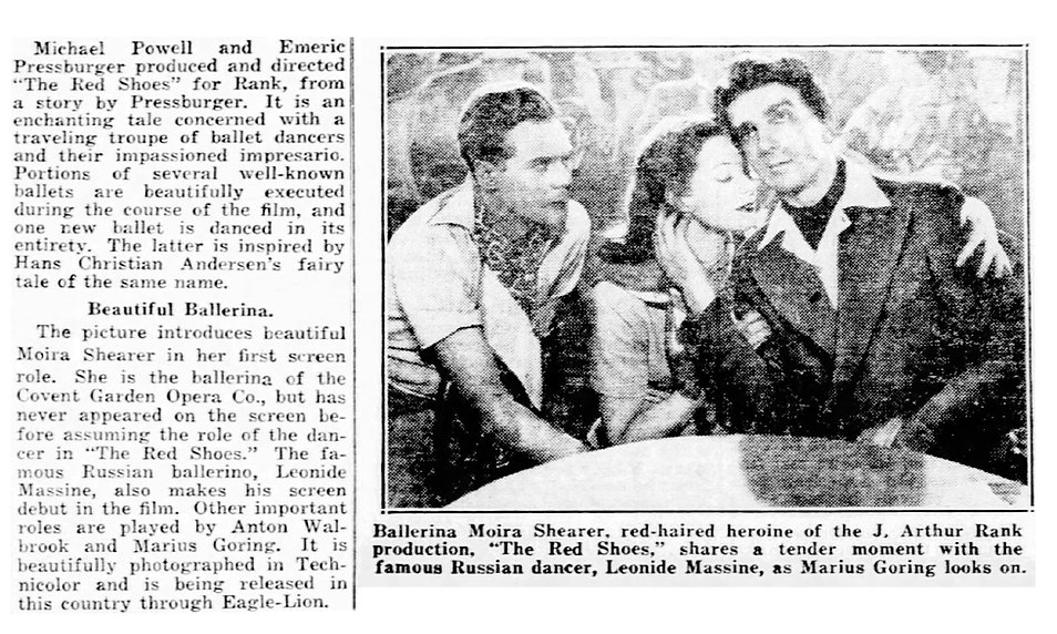 The Red Shoes review in the Daily News New York 7 November 1948