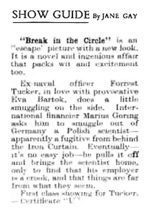 Break in the Circle article in the Banbury Guardian 31 March 1955