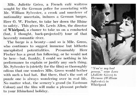 Whirlpool review in The Tatler 1 April 1959