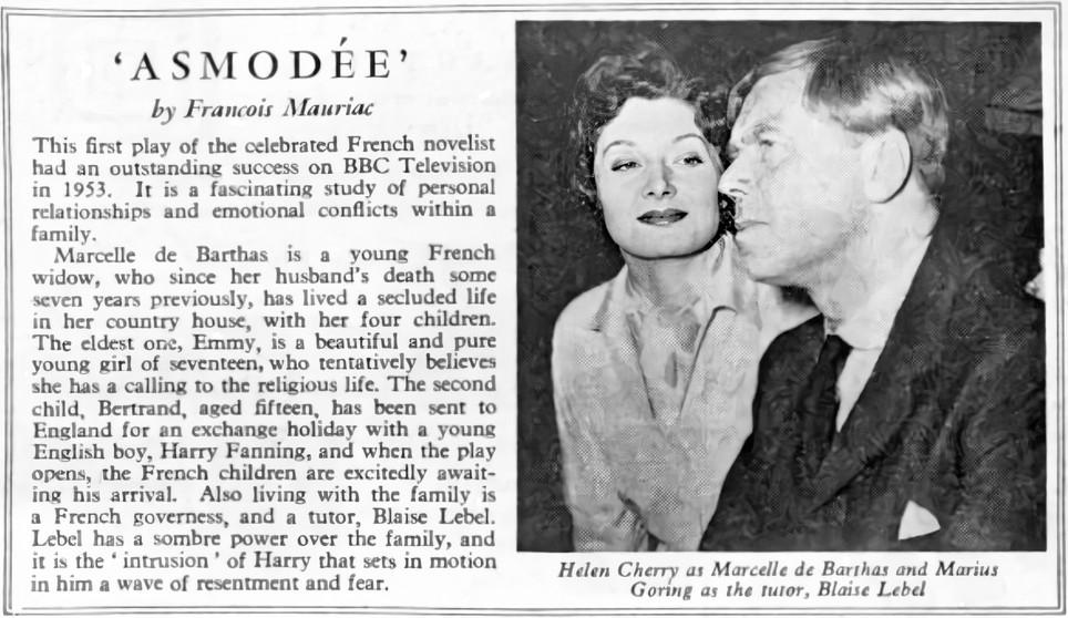 Helen Cherry and Marius Goring in Asmodée