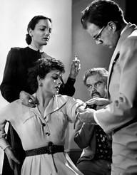 Jill Balcon, Margaret Lockwood, Marius Goring & Olaf Pooley in Highly Dangerous 1950