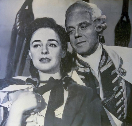 Marius Goring as Robert Clive & Jeannette Sterke as Margaret Maskelyne in Clive of India 1956