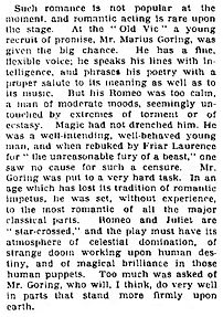 Romeo and Juliet review 1933