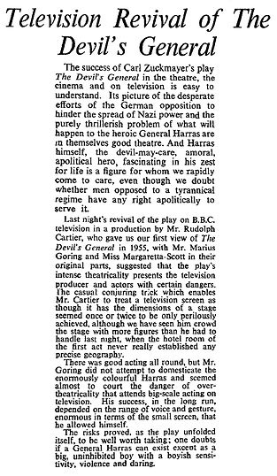The Devil's General review in The Times 15 August 1960