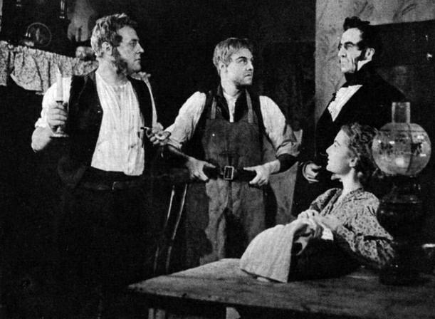 Richard George (Joe Gargery), Marius Goring (Pip), Wilfred Caithness (Jaggers) & Merula Salaman (Biddy) in Great Expectations 1939-40