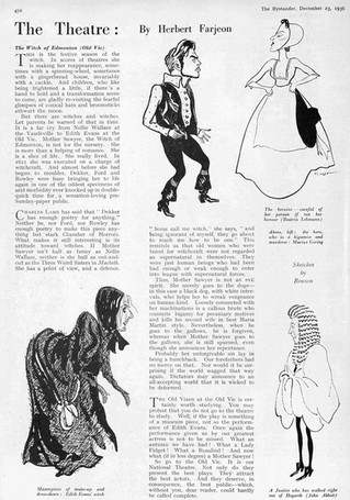 'The Witch of Edmonton' review in The Bystander 23 December 1936