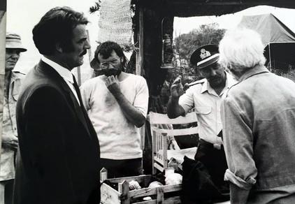 Marius Goring with Wolfgang Finck, Takis Emmanuel & Terry Bamber