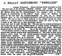 The Last Straw review in The Guardian 30 September 1937