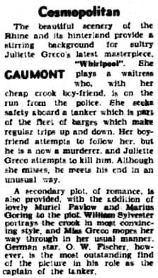 Whirlpool review in the Cheshire Observer 2 May 1959
