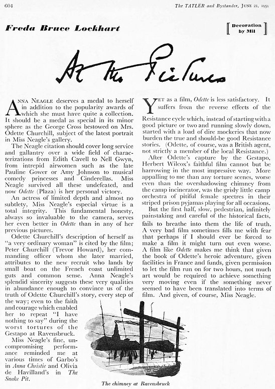 Odette review by Freda Bruce Lockhart in The Tatler 21 June 1950