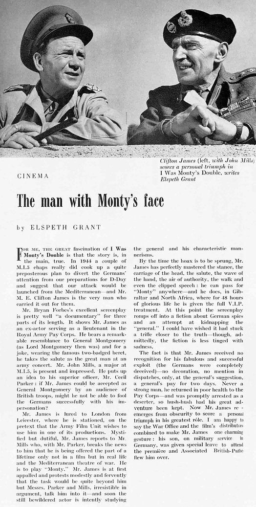 I Was Monty's Double review in The Tatler 29 October 1958