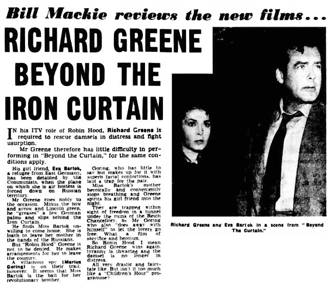 Beyond the Curtain review in the Aberdeen Evening Express 6 July 1960
