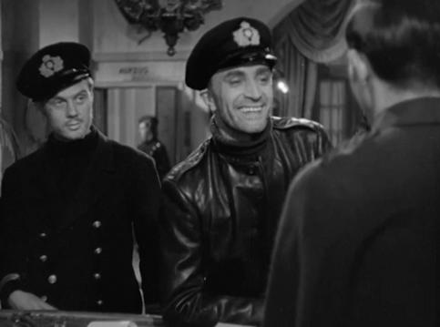 Marius Goring as Lt Felix Schuster & Conrad Veidt as Captain Ernst Hardt in The Spy in Black 1939