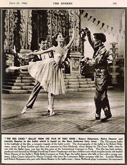 The Red Shoes article in The Sphere 31 July 1948